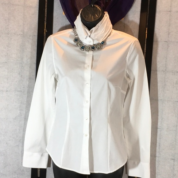sale retailer 4bcb5 acc30 Nara Camicie Italian white dress blouse